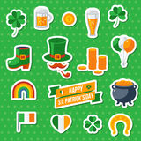 Set Of Happy St. Patricks Day Flat Icons Royalty Free Stock Images