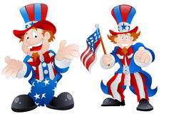 Set of Happy Uncle Sam Stock Image