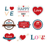 Set Of Happy Valentine's Day Elements Royalty Free Stock Image
