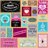 Set of Happy valentines day  cards Royalty Free Stock Photos
