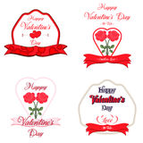 Set of  Happy Valentines Day Greeting Cards. Set of  Happy Valentines Day Lettering Greeting Cards Stock Photos