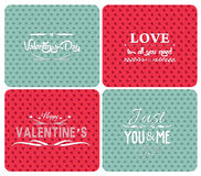 Set happy valentines day and weeding cards Royalty Free Stock Photo