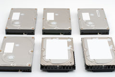 Set of hard disk drive Stock Photography