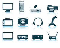 Set of hardware icons Stock Photography