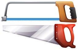 Set of hardware saws Stock Photos