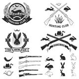 Set of hare hunting club labels. Royalty Free Stock Photos