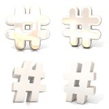 Set of hashtags, number marks Stock Photo