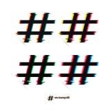 Set hashtags z usterka skutkiem - wektor illustration-eps10 Zdjęcia Stock