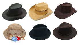 Set of hat Royalty Free Stock Images