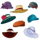 Set hat vector Royalty Free Stock Photos