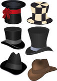 Set of hats. Accessory clothing fashion cylinder Stock Photo