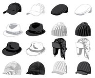 Set of the hats. Vector illustration Stock Photos