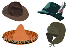 Set of hats Stock Image