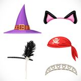 Set of hats for the carnival costumes 2 Stock Image