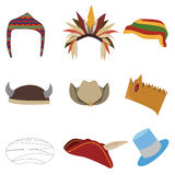 Set of hats Stock Photography