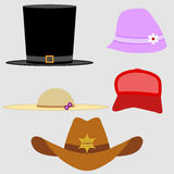 A set of hats Stock Photos