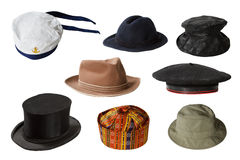 Set of hats Royalty Free Stock Photography