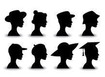 Set hats Stock Image