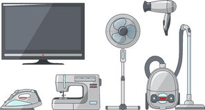 Set Haushaltsgeräte Lizenzfreie Stockfotografie