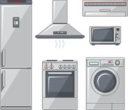 Set Haushaltsgeräte Lizenzfreies Stockbild