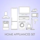 Set Haushaltsgeräte Stockbilder