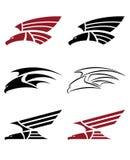 Set hawk for tattoo design stock photo