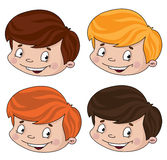 Set of head boy Royalty Free Stock Image