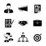 Set of Head Hunter icons - handshake, resume Royalty Free Stock Photography