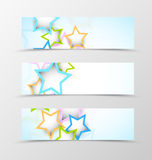 Set of header banner dynamic design Royalty Free Stock Photos