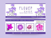 Set of Header or Banner. Royalty Free Stock Image
