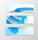 Set of header banner geometric design Royalty Free Stock Photos
