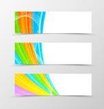 Set of header banner spectrum design Royalty Free Stock Photography