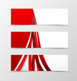Set of header banner wavy design. With curve lines in light style. Vector illustration Royalty Free Stock Photography