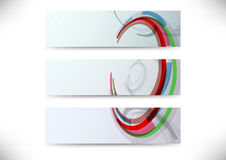 Set of headers with abstract element Royalty Free Stock Photography