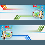 Set of headers/banners for Golf Clubs design background Royalty Free Stock Images