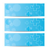 Set of headers with medical crosses. Royalty Free Stock Photography
