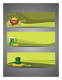 Set of headers for St. Patrick's Day. Royalty Free Stock Photo