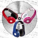 Set of headphones Stock Photo