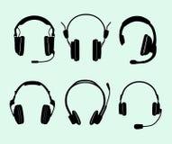 Set of headphones Stock Images