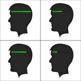 Set of heads with loading symbol. Stock Images