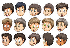 Set of heads Royalty Free Stock Photo