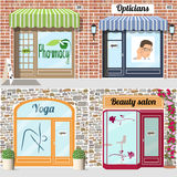 Set of health and beauth shops Royalty Free Stock Photos