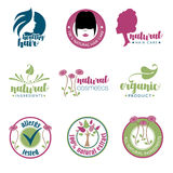 Set of health and beauty badges Stock Photo