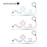 Set of health care logo on white background Stock Images