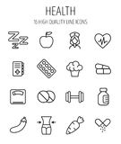 Set of health icons in modern thin line style. royalty free illustration