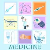 Set health medicine Royalty Free Stock Photos