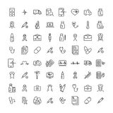 Set of health thin line icons. Stock Image