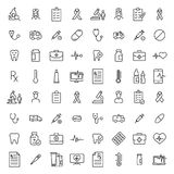 Set of healthcare thin line icons. Royalty Free Stock Photography