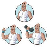 Set healthy man athletic muscular Stock Photo