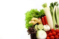 A set of Healthy vegetable in the corner Stock Photos